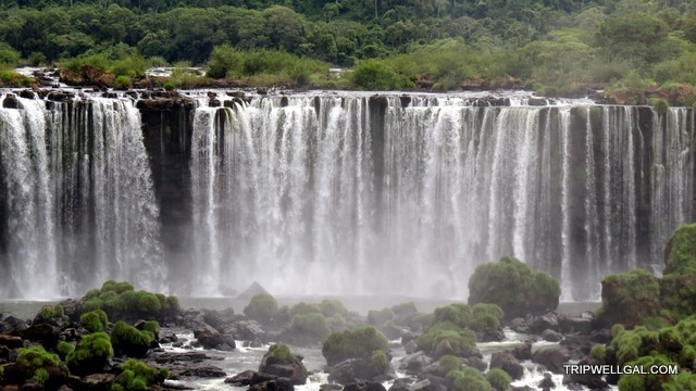 Grace found at the Iguacu falls as seen from Brazil.