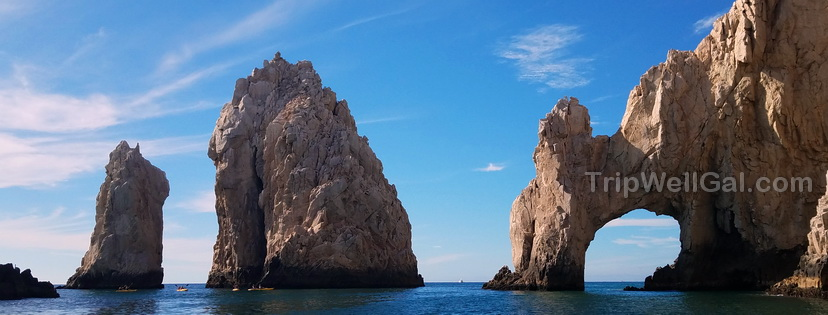 el arco rocks above the sea in Los Cabos, Mexico