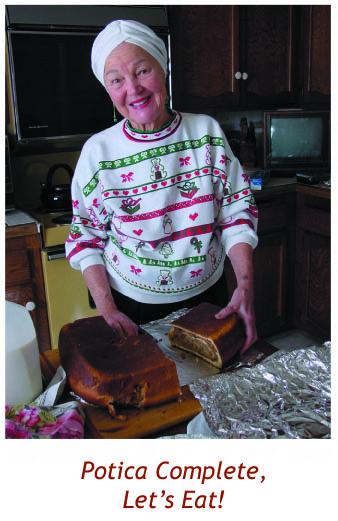 Helen Serving Potica