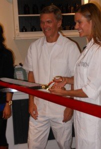 John and Rochelle Cut the Ribbon