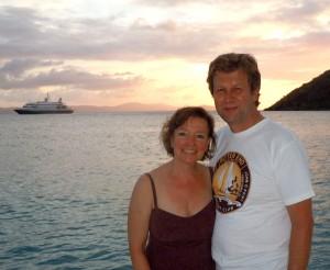 dave and elaine BVI sunset