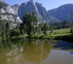 Yosemite valley reflection