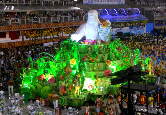Sambadrom float, Rio, Carnival in Rio, trip wellness