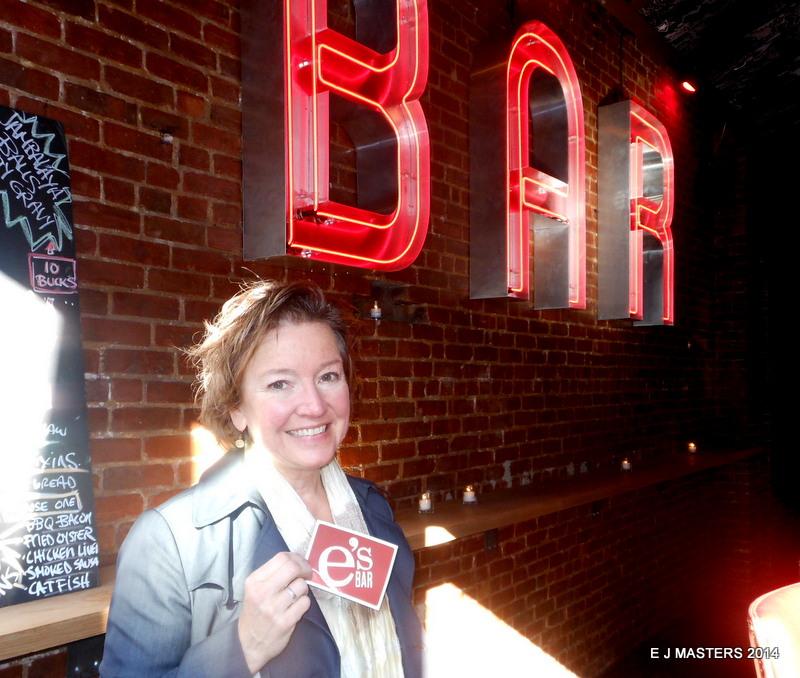 Elaine at e's Bar, trip wellness, walking tours in new york