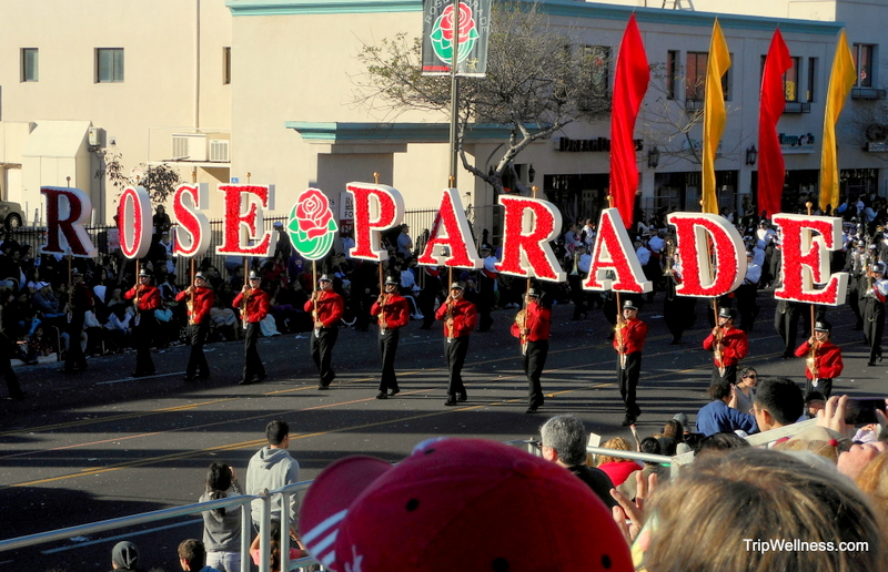 Visiting the Rose Parade – New Years day, flowers and floats
