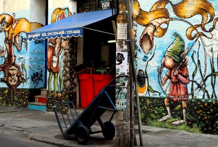 Graffiti near the Selaron Staircase, Rio de Janeiro, trip wellness