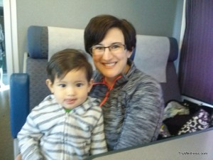 Capitol Corridor, train times, trip wellness, mom and baby commute.