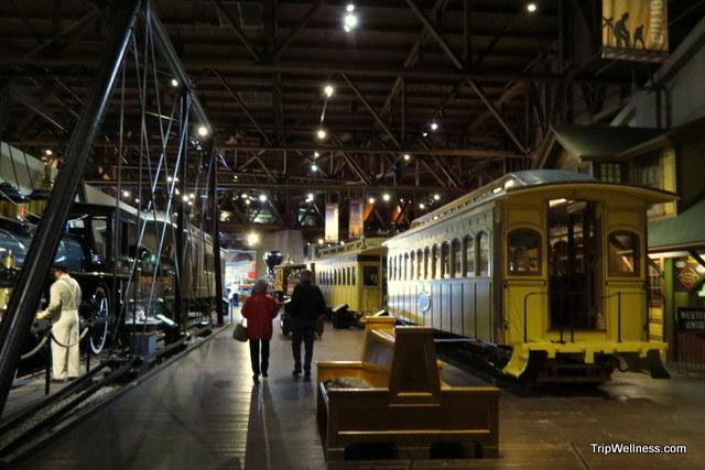 Inside the California State Train Museum, Capitol Corridor, Trip Wellness