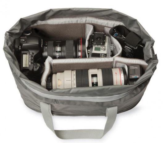 Lowepro duffel inside bag.