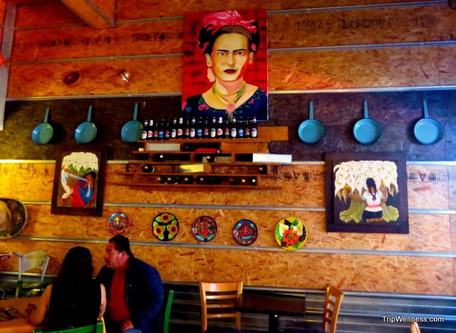 Inside La Tradicion Restaurant in Tijuana.