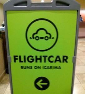 flightcar sign, airport parking, tripwellness