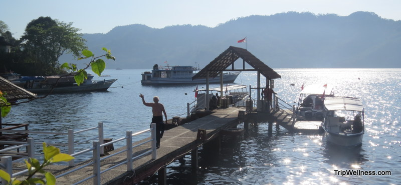 Dive dock at Kasawari Resort, how to ruin a vacation