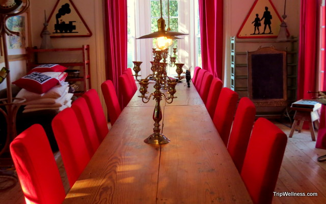 Banquet room at Metro Hotel in Petaluma
