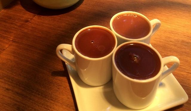 Cacao served three ways. Portland food tour.