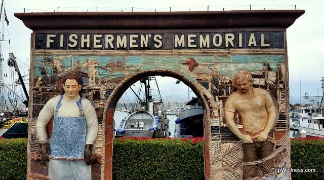fisherman's memorial, Ventura harbor