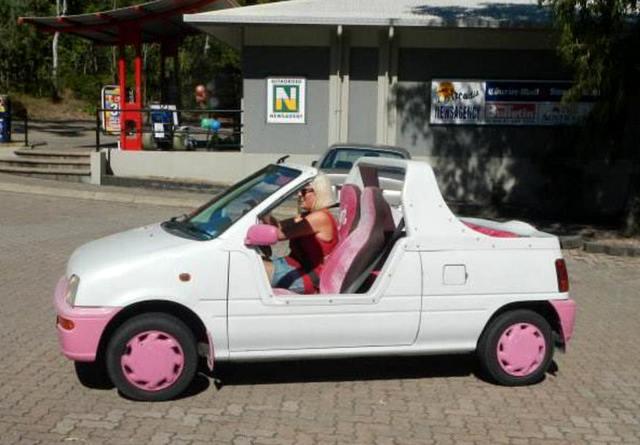 pink car rental Cheskie's Gap Life
