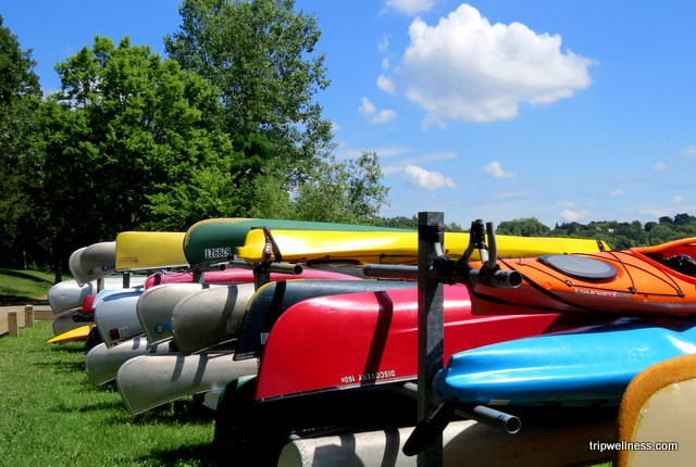 Rental canoes on Lake Harriet, Minneapolis