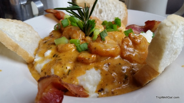 Grits & shrimp, Surreys, New Orleans