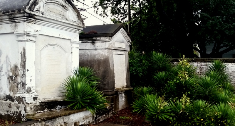 Tombs stand in New Orleans cemetery, Lafayette No. 1