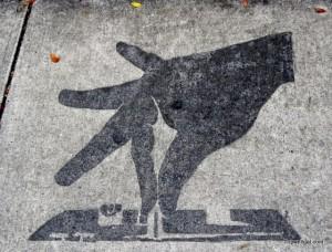 Sidewalk art Wynwood District