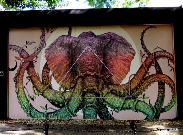 Elephant mural, Wynwood Walls