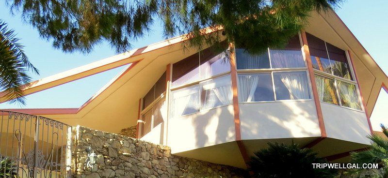 Elvis' left this honeymoon house in Palm Springs.