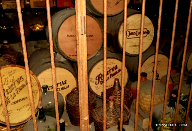 Casks in the basement of Mundo Cuervo on the Tequila Trail