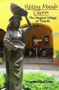 Statue in Cuervo Mundo on the Tequila Trail