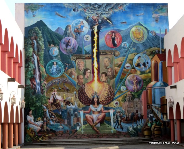Mural showing the power of the Tequila Trail