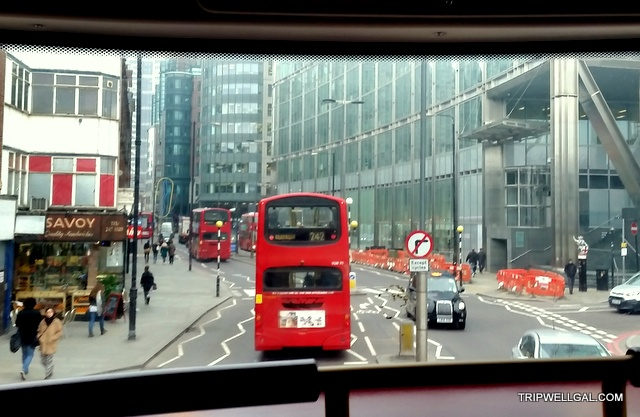 London buses are fun places to visit.