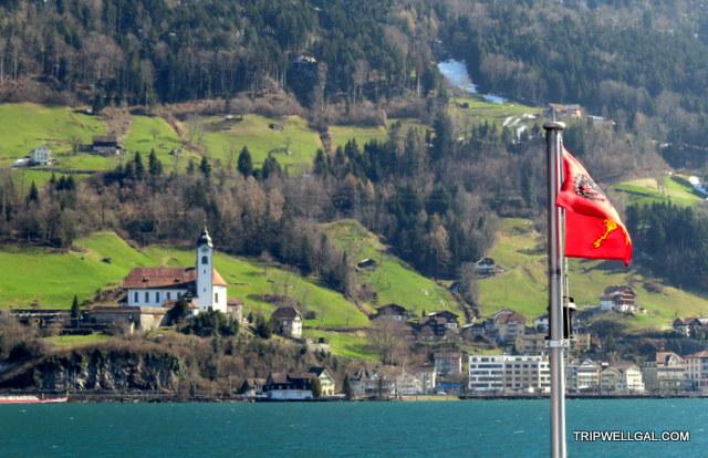 Swiss village on our Lake Lucerne boat ride