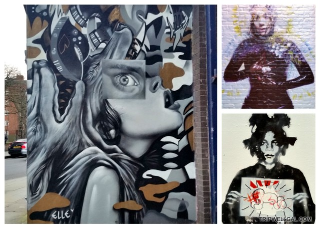 A miniscule sampling of the Shoreditch murals.
