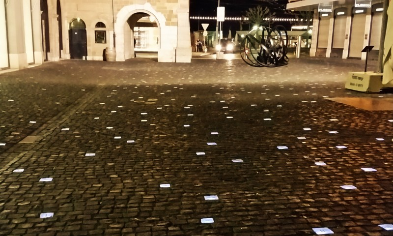 Place du Molar with its illuminated stones