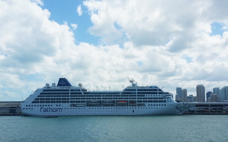 Cruise holidays cancellation for the Fathom launch