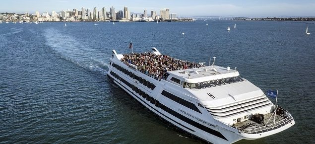Hornblower Sunday Brunch cruise ship sails in San Diego