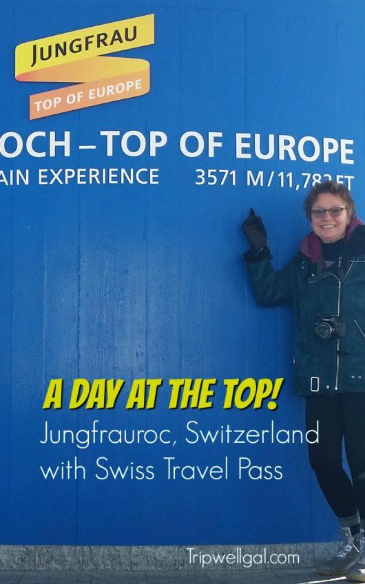 Jungfrau Pin at the top of Europe