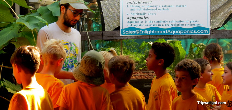 Kids learning about sustainable farming at Marando Farms in Fort Lauderdale