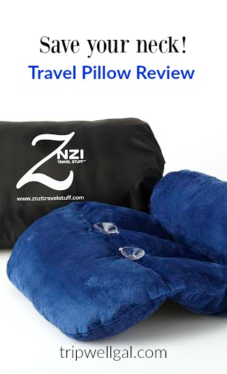 Save your neck with the Znzi travel pillow