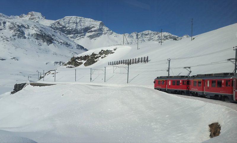 Bernina Express en route to St. Moritz