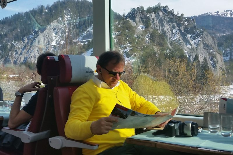 At ease on the Bernina Express