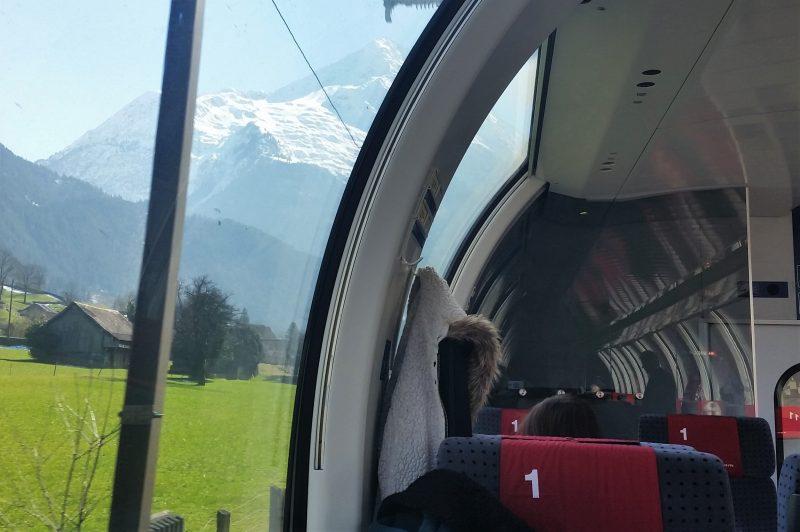 Train Cabin using the Swiss Travel Pass