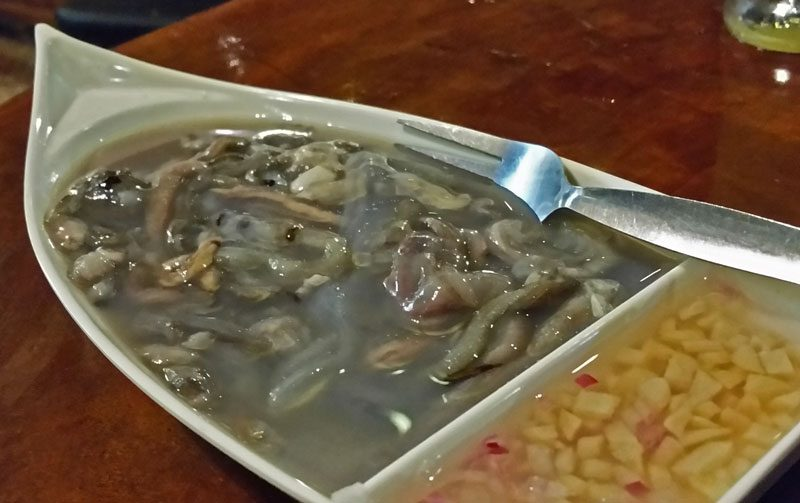 Wood Worms, Tamilok, one of the traditional Filipino foods found in Puerto Princesa