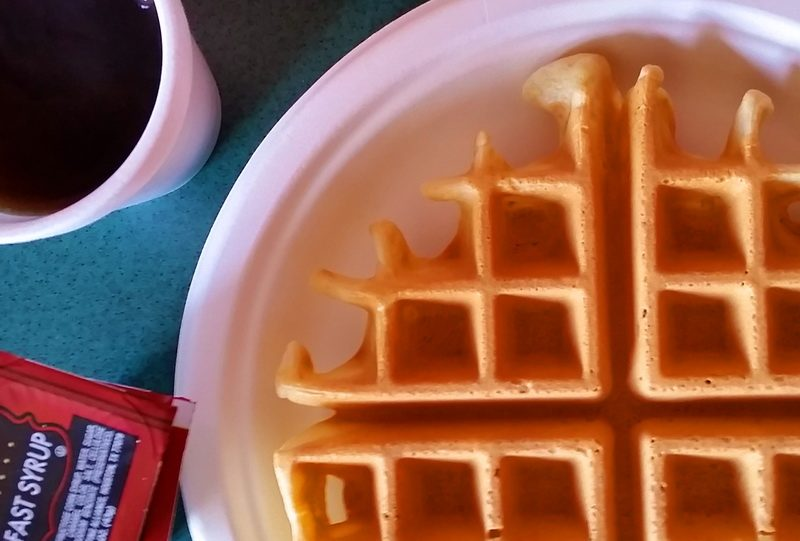 Waffles as road trip snack ideas