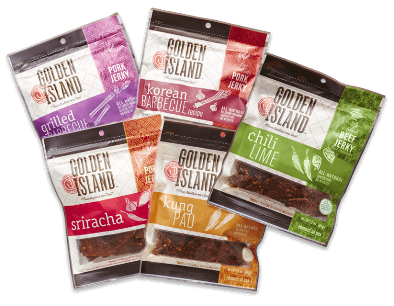 Golden Island Jerky are fine snack ideas