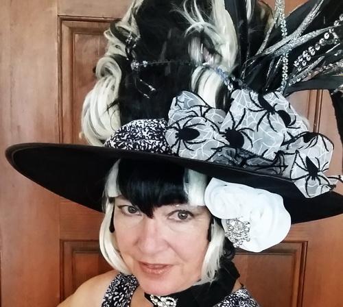 Elaine's halloween party hat