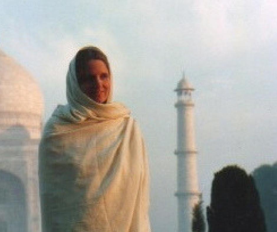 JD in front of the Taj Mahal
