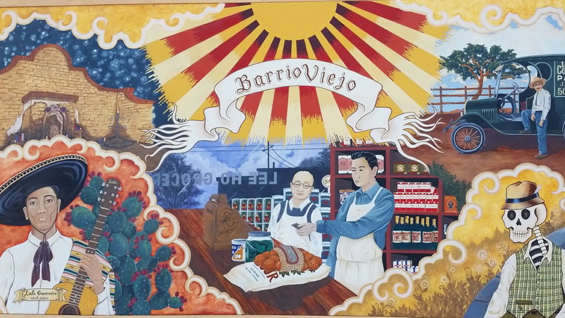 Tucson Barrio Viejo Mural on the former site of Lee Ho's store, the most important of the Chinese markets.