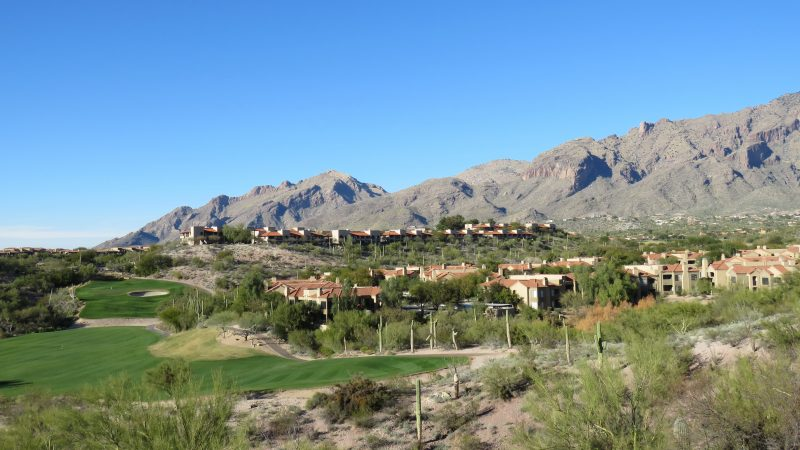 The view from ridge rooms in the luxury resort, Hacienda del Sol Resort