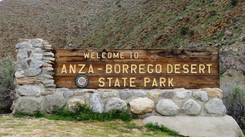 Anza borrego desert state park sign
