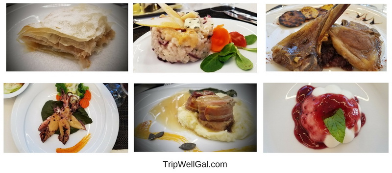 A few of the delicious presentations on board the Katarina Line.
